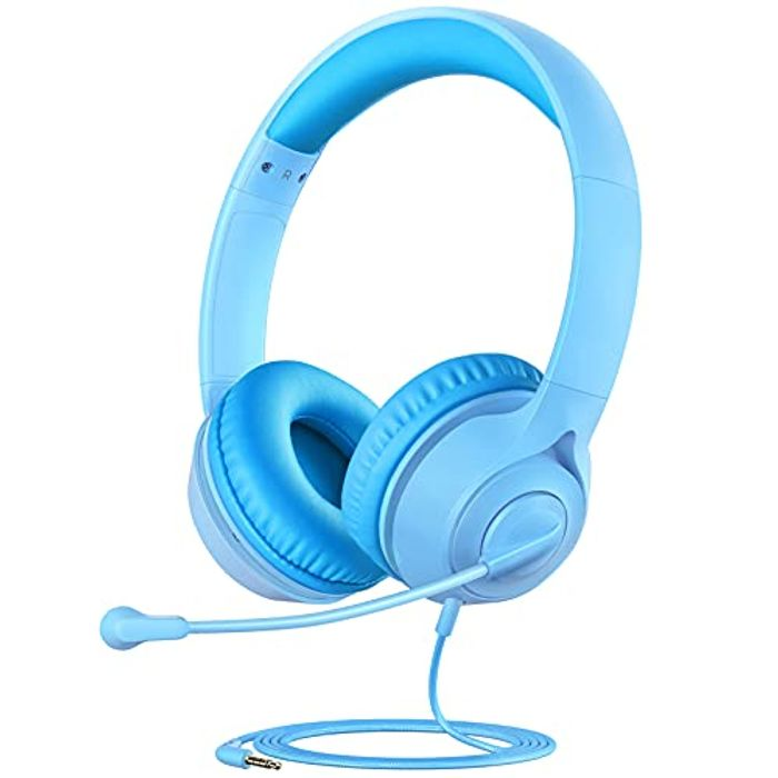 Wired Kids Headphones with with 360 Rotatable Microphones - Only £5.99!