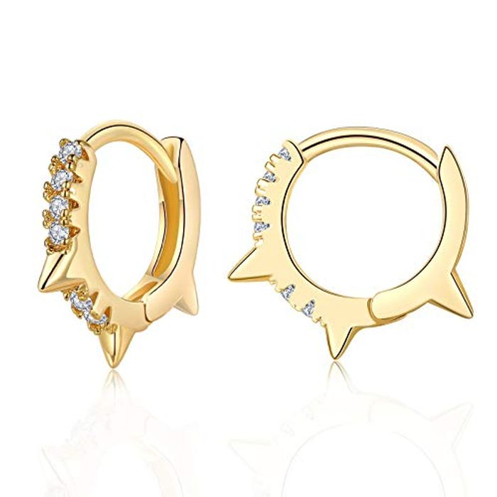Small 925 Sterling Silver Gold Hoop Earrings with £5 Off Coupon
