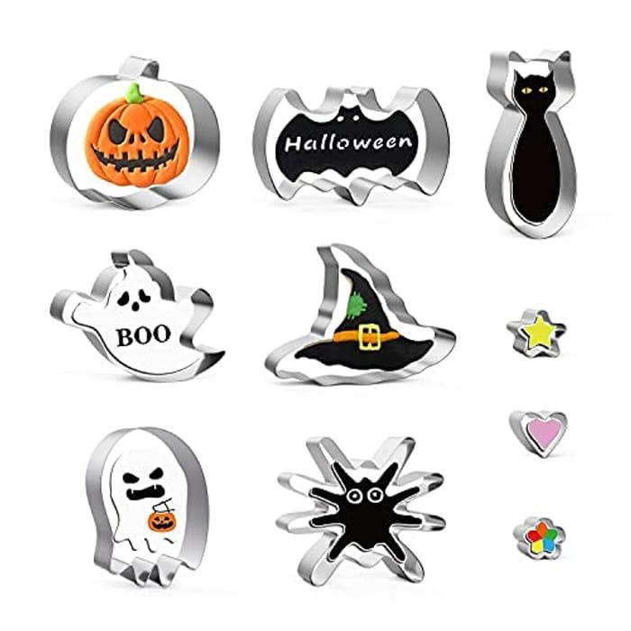 MIUTME 10pcs Halloween Cookie Cutter Set