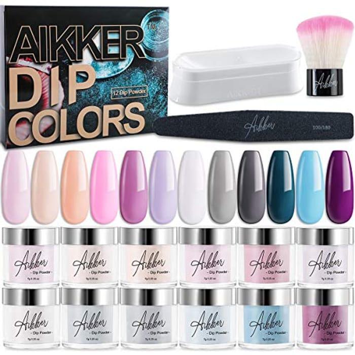 15pcs Acrylic Dip Powder Nail Kit 12 Summer Colour