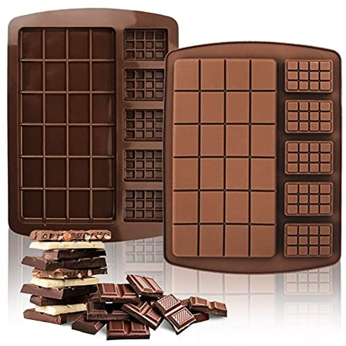 2 Pack 2 in 1 Chocolate Moulds