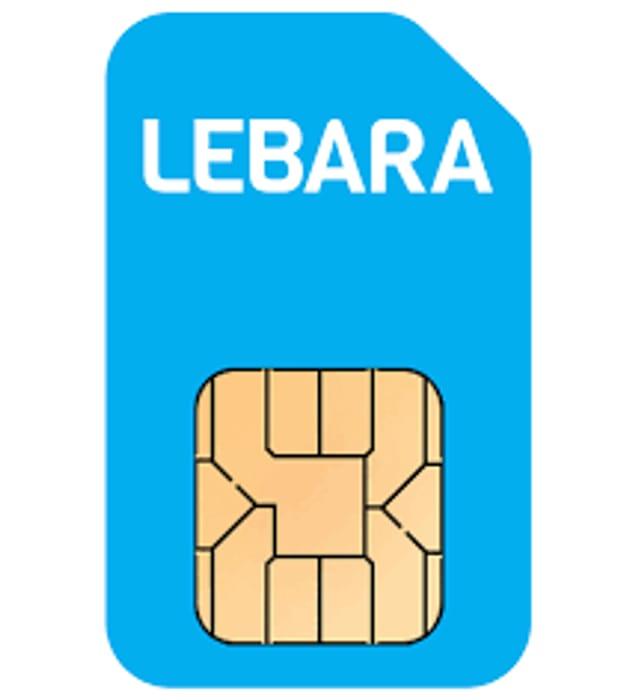 Lebara 5G Sim Only - 2GB Data, 1000 UK Mins & Texts + 100 International Mins 99p