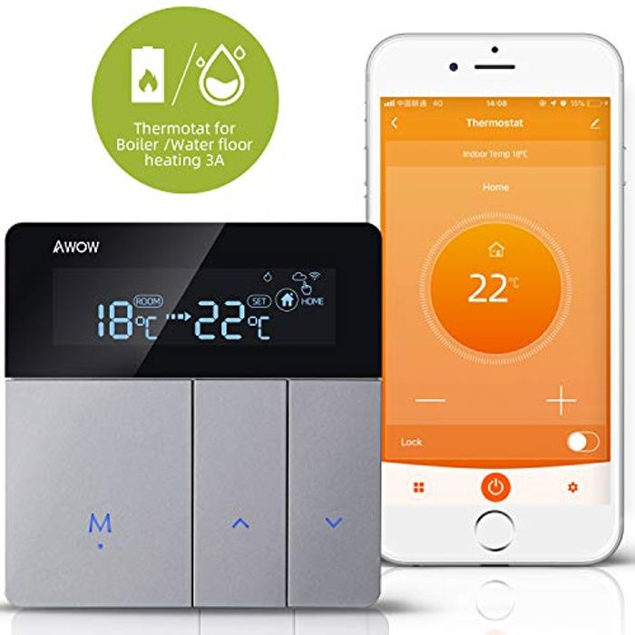 AWOW WiFi Smart Thermostat for Gas/Water Boiler