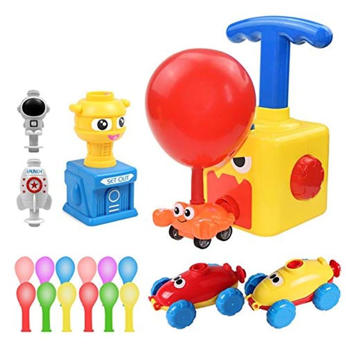 Inertial Power Balloon Car, Children Inertia Balloon Car Toy