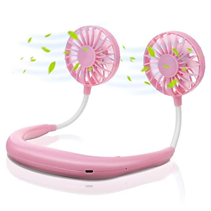 USB Rechargeable Neck Fan with 3 Speeds