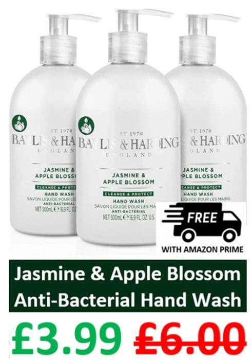 Baylis & Harding Jasmine & Apple Blossom ANTI-BACTERIAL Hand Wash X 3