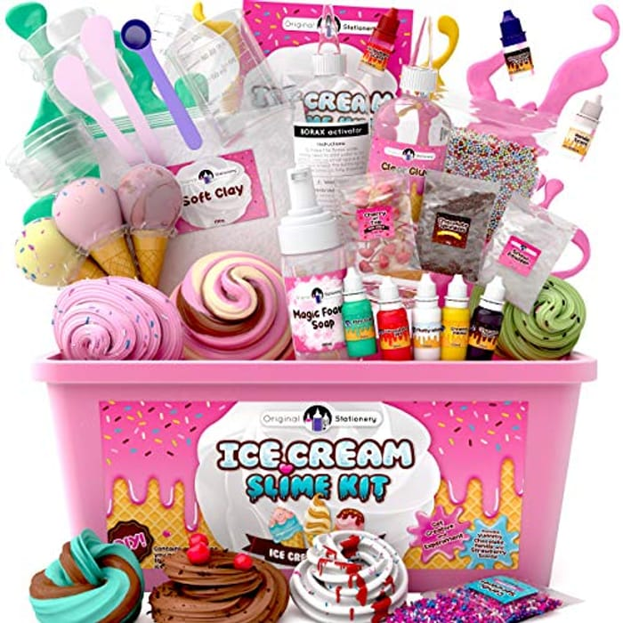 Original Stationery Fluffy Slime Kit for Girls Everything