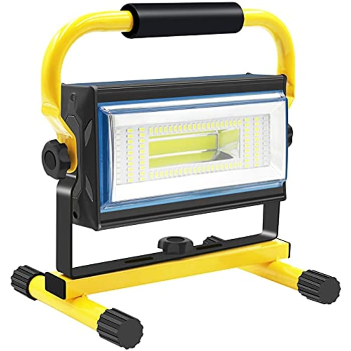 Sylstar COB LED Work Light, 100W Rechargeable - Only £20.80!