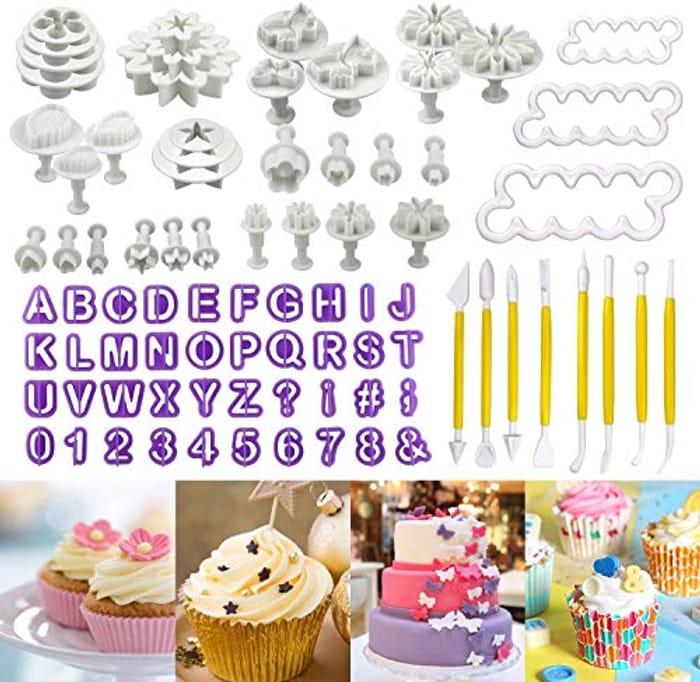 Buluri 84 Pcs Fondant Cookie Cutter Cake Decorating Tool - Only £7.99!
