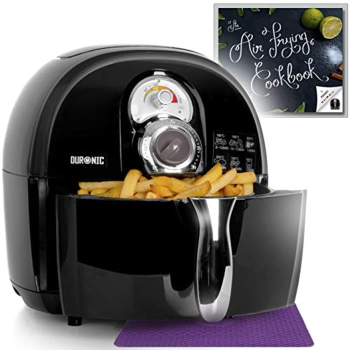 LIGHTNING DEAL - Duronic Oil-Free & Low-Fat Healthy Cooking Mini Oven Air Fryer