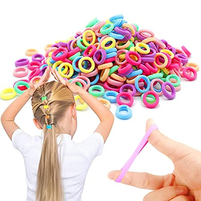 Candy Color Seamless Multi-Colored 100Pcs Baby Elastics Hair Ties - Only £3.82!