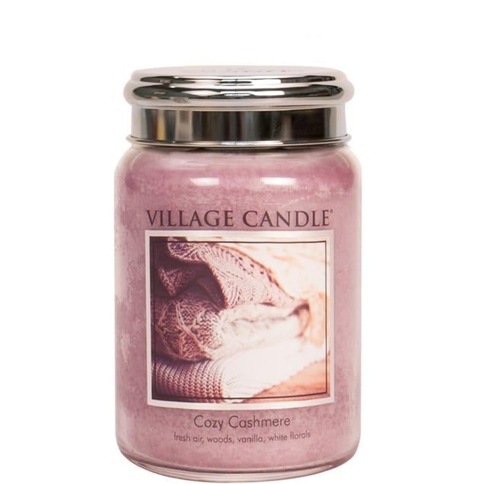 Village Candles Large Jar Candle - Cozy Cashmere