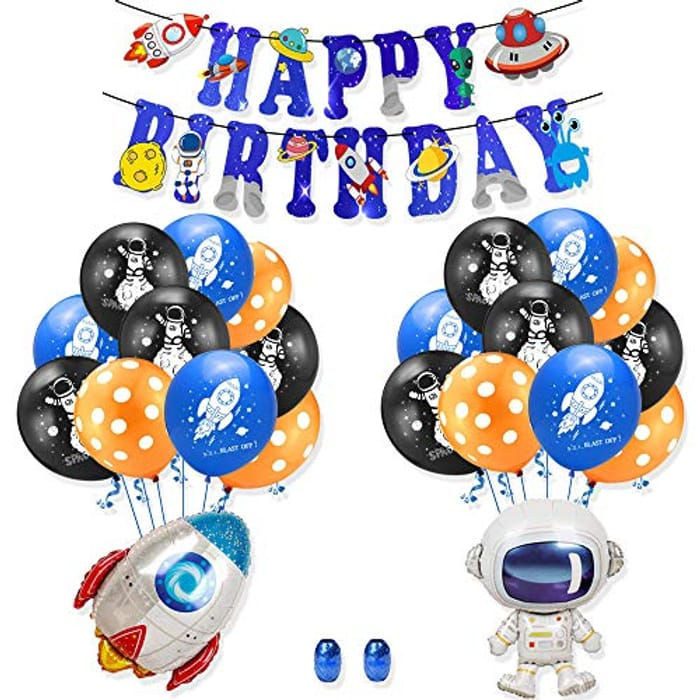 25pcs Astronaut Birthday Party Decoration Set (Various Options)