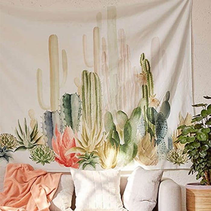Cactus Tapestry Wall Hanging - 150 X 150cm