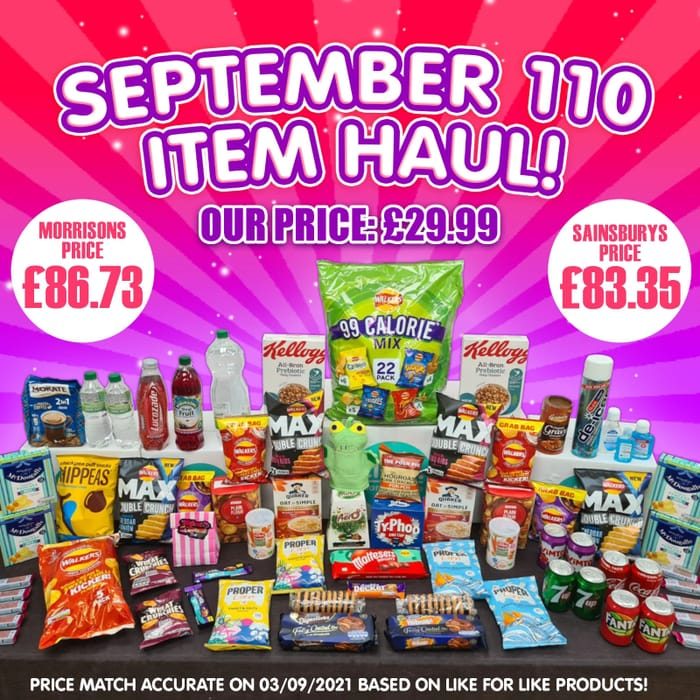 September 110 Food and Drink Item Haul Box - IT'S a CRACKER! - save £68.66