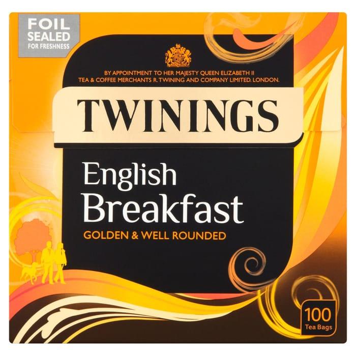 Twinings 100 English Breakfast Tea Bags 250g