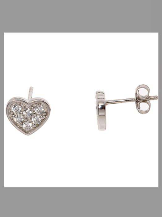 HOT DIAMONDS Sterling Silver Sparkle Heart Earrings