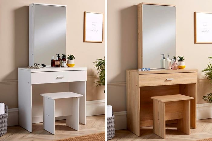 *SAVE over £20* Dressing Table, Mirror & Stool - Sonoma Oak or White!
