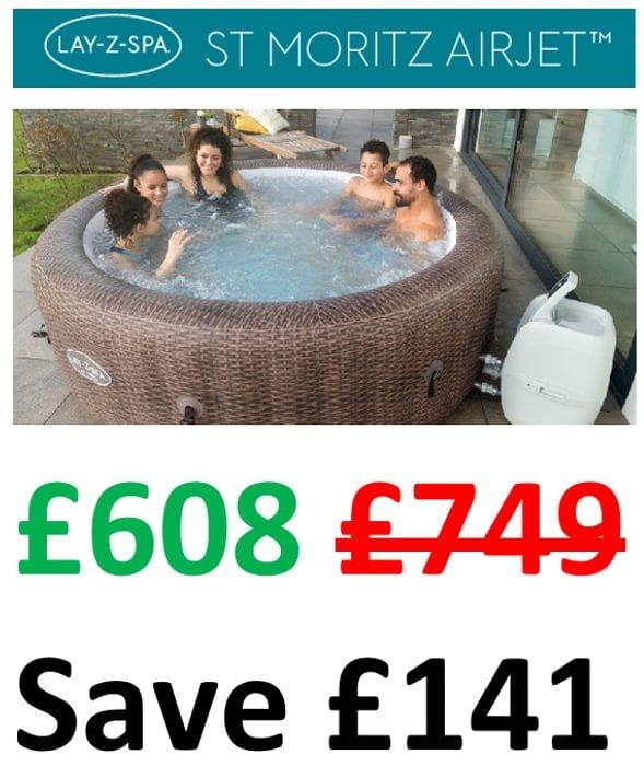 £141 OFF AT AMAZON! Lay-Z-Spa St Moritz Hot Tub | 5-7 Person