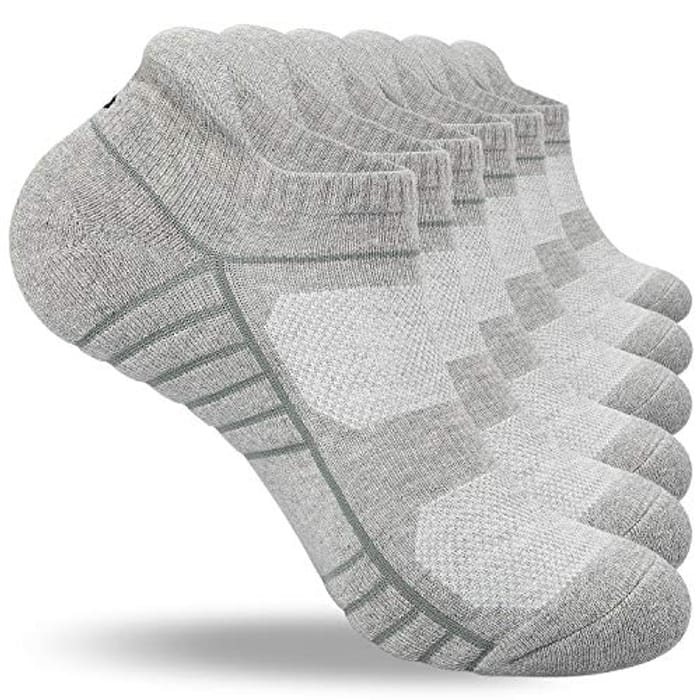 Coskefy Cushioned Anti Blister Cotton Ankle Socks - Only £5.99!