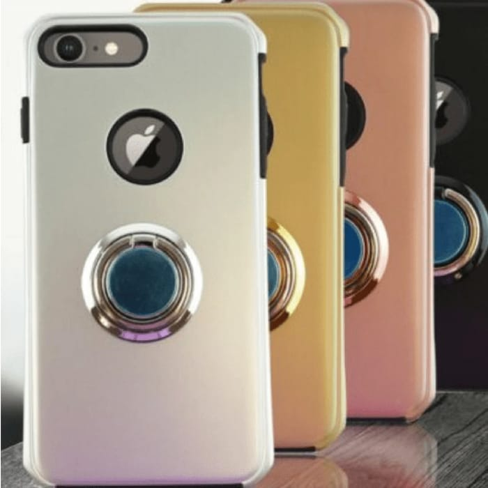 Apple Iphone 8, 8+, Xs, X, Xr, Xs Max Case with Ring Stand