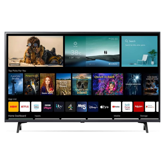 """*SAVE £120* LG 50"""" 4K UHD HDR TV with Freeview Play"""
