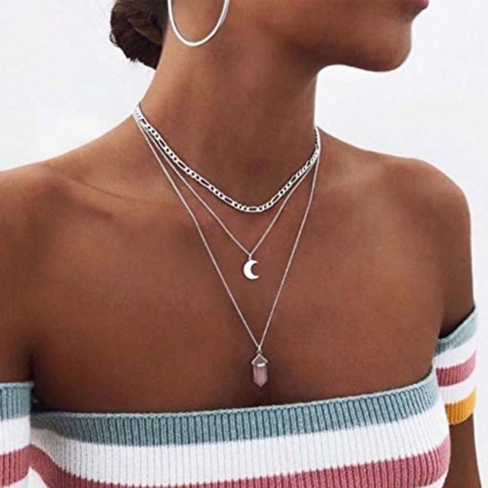 Bohemian Multilayer Crystal Healing Necklace Choker