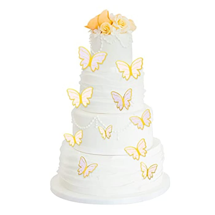 80 Pcs Butterfly Cake Toppers Butterfly