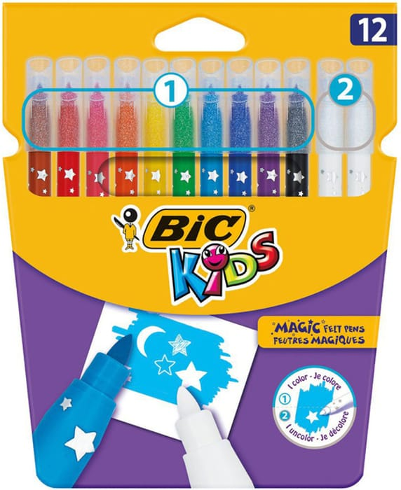 BiC Kids Magic Felt Tip Pens Assorted Ink (Pack of 12)