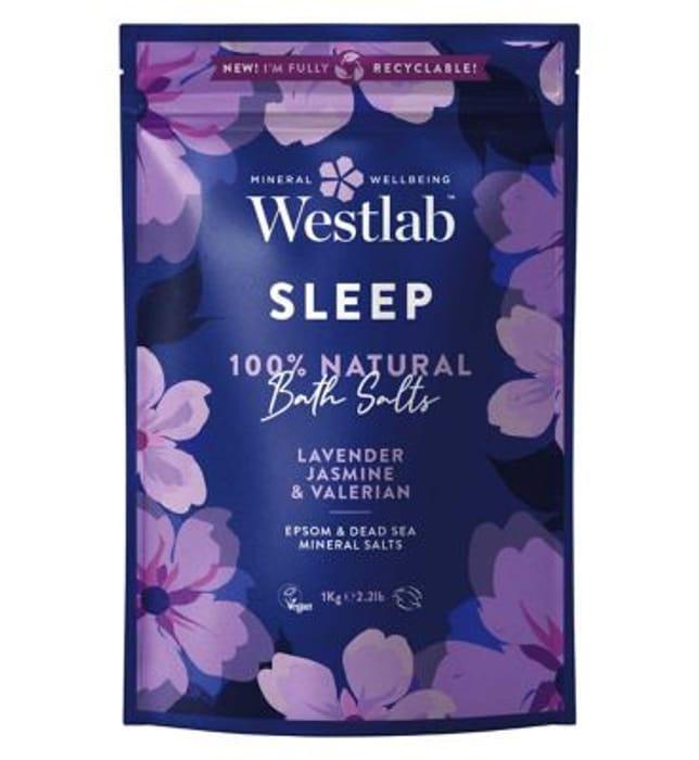 Westlab Sleep Epsom Bath Salts with Lavender 1kg