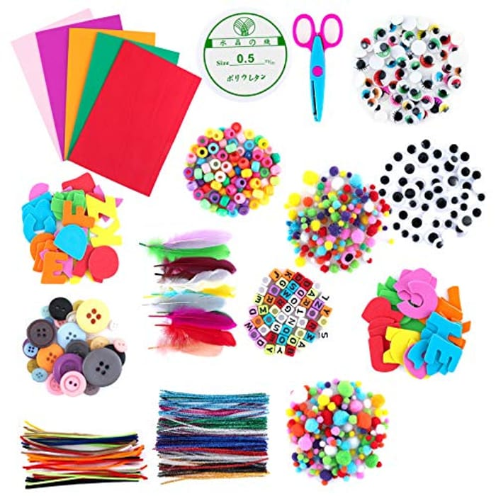 DEAL STACK - Arts and Crafts Supplies for Kids, Maxjaa Crafting Set + 20% Coupon