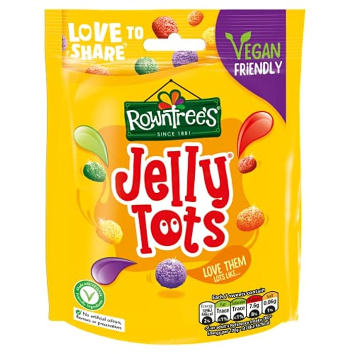 Rowntrees Jelly Tots Sweets Sharing Pouch, 150 G - Pack of 10, 10% off First S&S