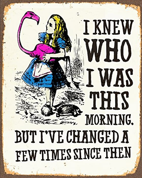 Alice in Wonderland Retro Poster PERSONLISED for FREE
