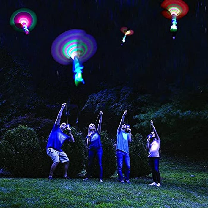 HURRY! LED Helicopter Lights (4 Pack) - Only £3.34