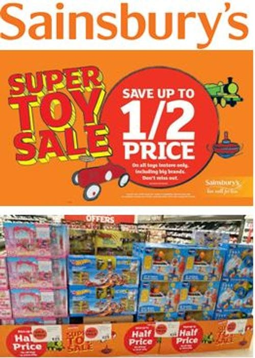 When is the SAINSBURY'S HALF PRICE TOY SALE 2021 Start Date?
