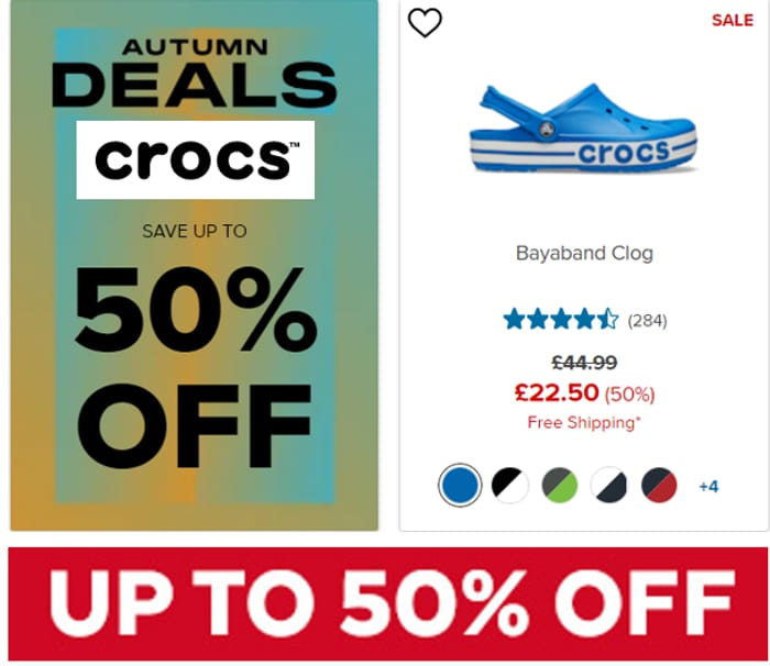 Crocs - Up To 50% Off Autumn Sale + Free Delivery & Returns