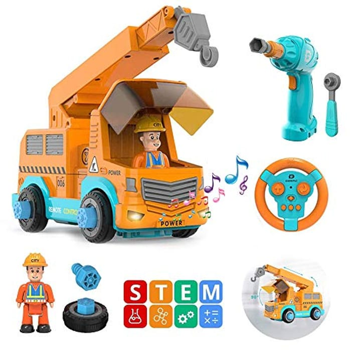 Construction Vehicle Car Set - Take Apart Construction Toys with £10 off Coupon