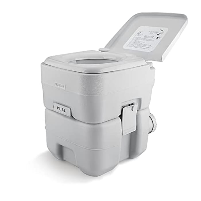 SEEZSSA 24 L Portable Camping Toilets with Clean Brush - Only £42.99!
