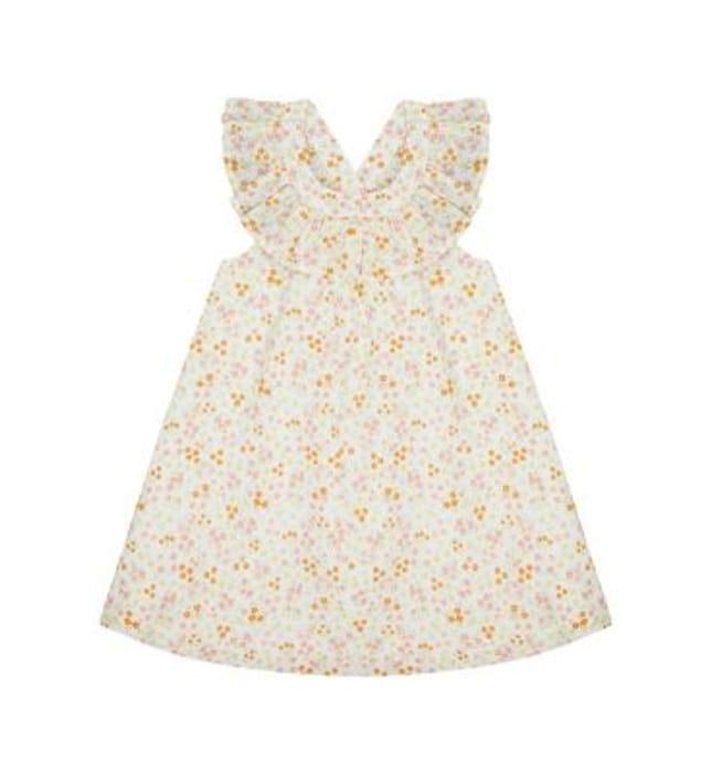Floral Frill Neck Dress