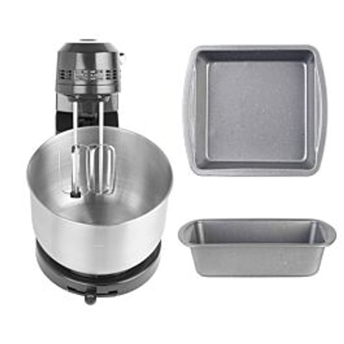 *SAVE £37* Progress COMBO Compact Stand Mixer - S/steel & Baking Trays