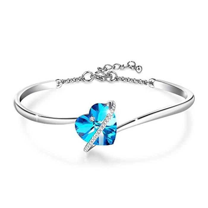 LIGHTNING DEAL - GEORGE SMITH Love Echo Adjustable Women Heart Bracelets