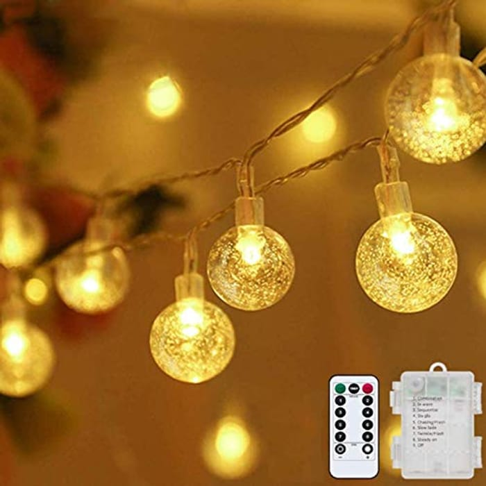 DEAL STACK - Battery Operated 32ft 80LED Globe String Fairy Lights + 10% Coupon
