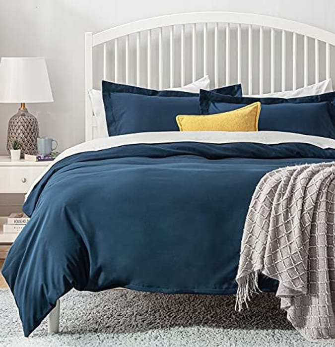 Double Size Microfiber Duvet Cover Set with 2 Pillowcases