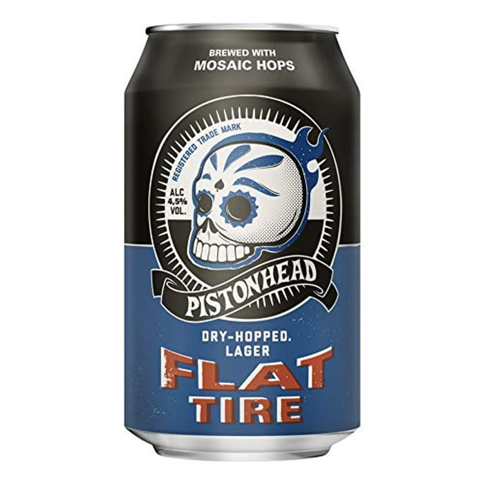 Pistonhead Flat Tire 4.5% ABV | 24 X 330ml Craft Beer Cans | American Pale Lager