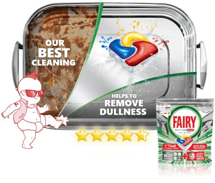 Free Sample - Fairy Platinum plus Dishwasher Tablets (3 Tablets