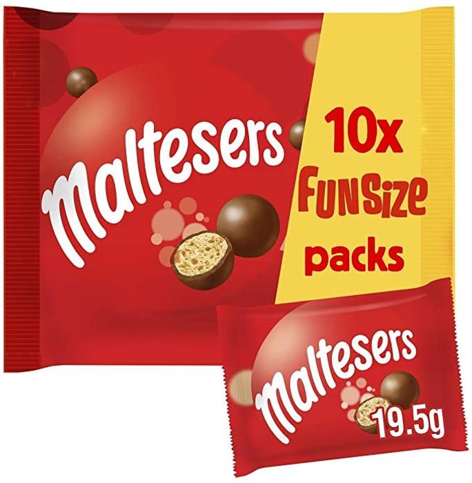 Maltesers Fun Size Chocolate Multipack - 10 Packs of 19.5 G