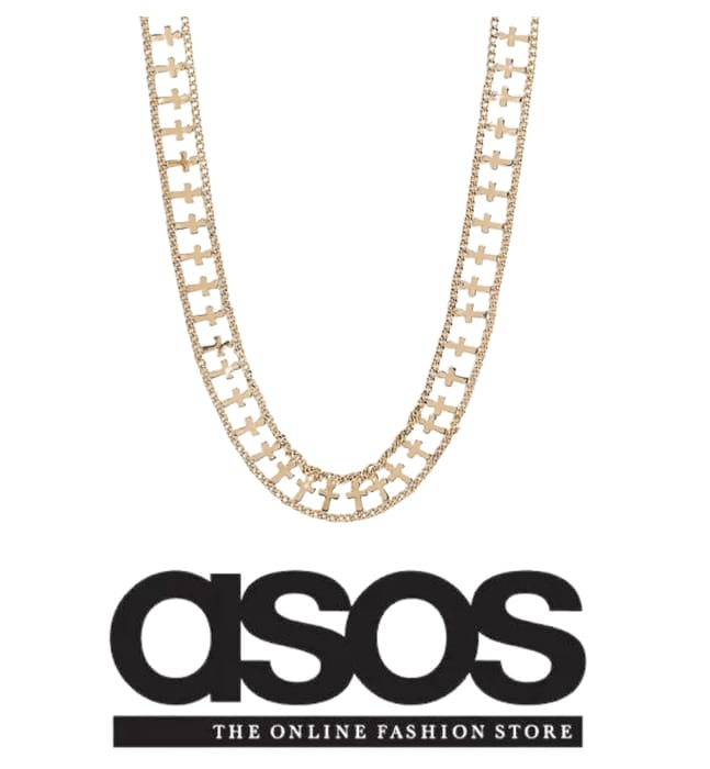Regal Rose Chunky Gold Plate Necklace Only £8.05 at ASOS