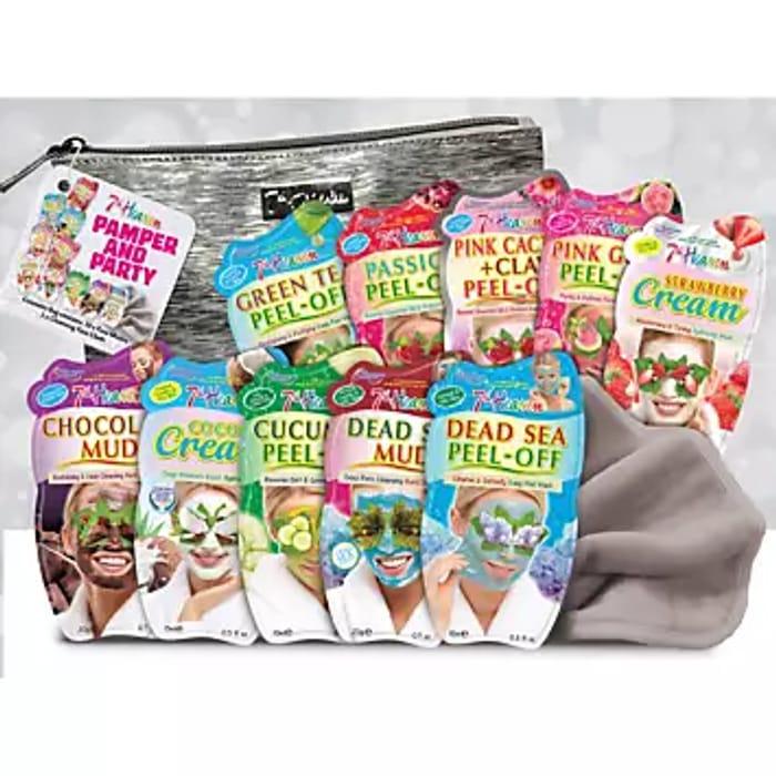 Montagne Jeunesse 7th Heaven Pamper & Party Bag Face Mask Gift Set