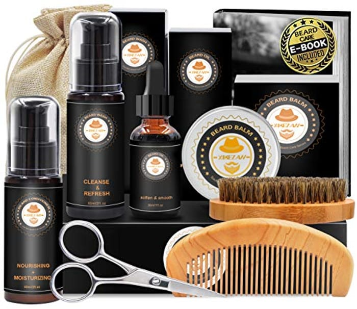 DEAL STACK - Upgraded Beard Grooming Kit w/Beard Conditioner + £5 Coupon