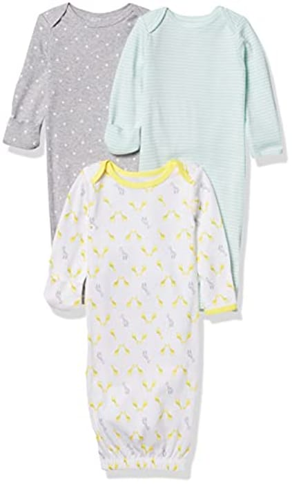 Simple Joys by Carter's Unisex Baby 3-Pack Neutral Cotton Sleeper Gown